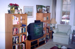 Photograph of a home entertainment centre, by jsmgr